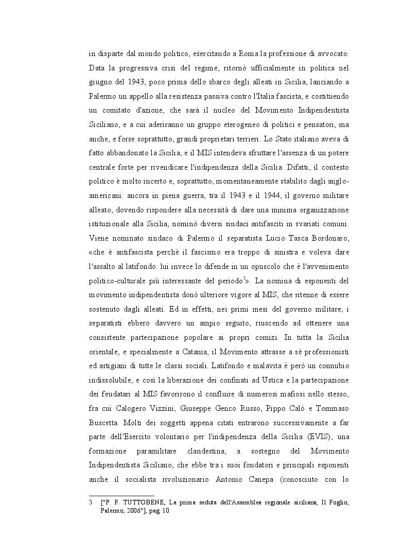 Anteprima della tesi: Origini, caratteri e prospettive dell'autonomia speciale della Regione Siciliana, Pagina 7