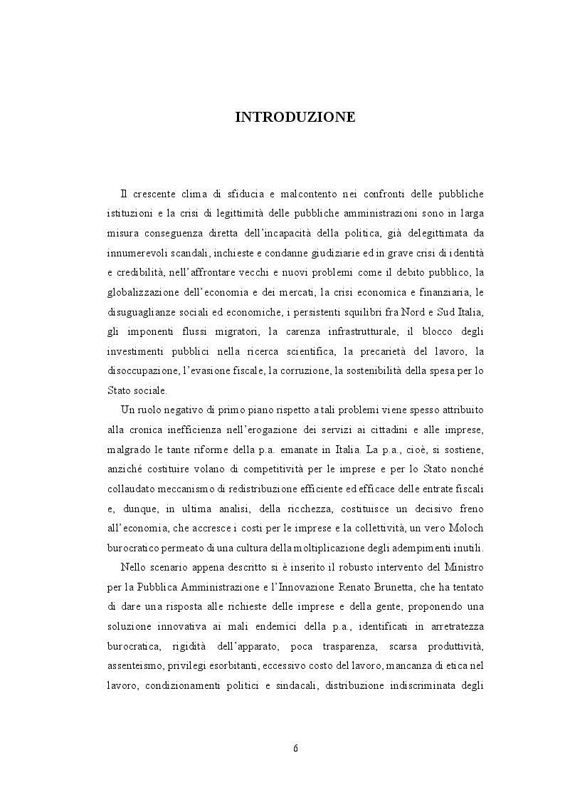 Anteprima della tesi: La valutazione della performance nella Pubblica Amministrazione a seguito della riforma Brunetta: il caso INAIL, Pagina 2