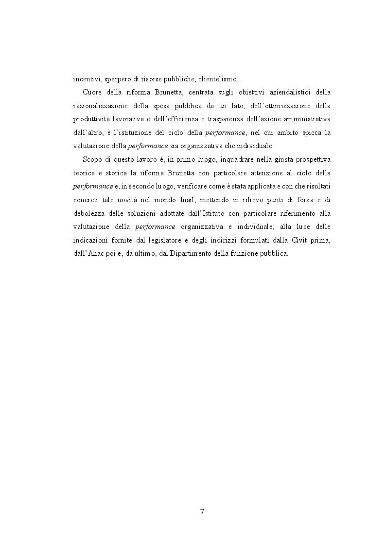 Anteprima della tesi: La valutazione della performance nella Pubblica Amministrazione a seguito della riforma Brunetta: il caso INAIL, Pagina 3