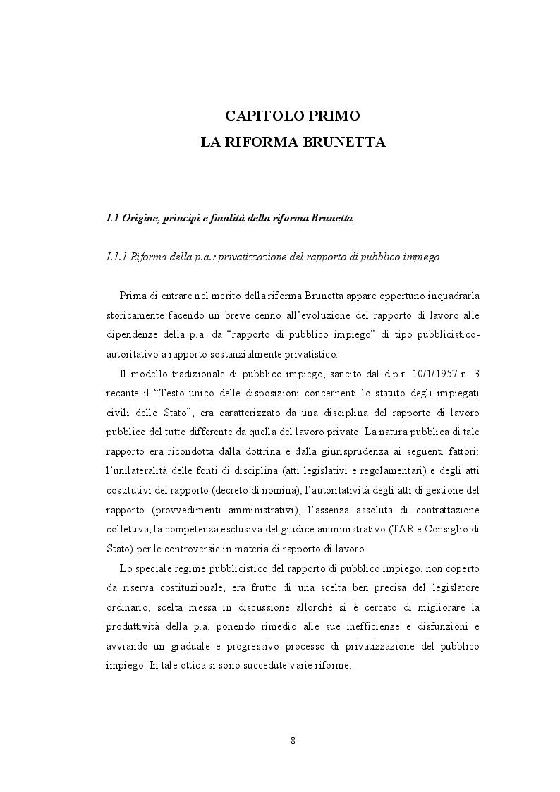 Anteprima della tesi: La valutazione della performance nella Pubblica Amministrazione a seguito della riforma Brunetta: il caso INAIL, Pagina 4