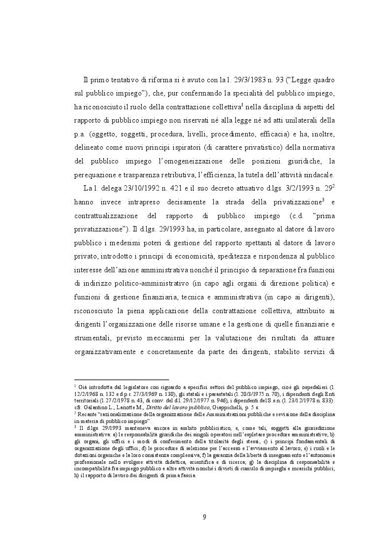 Anteprima della tesi: La valutazione della performance nella Pubblica Amministrazione a seguito della riforma Brunetta: il caso INAIL, Pagina 5