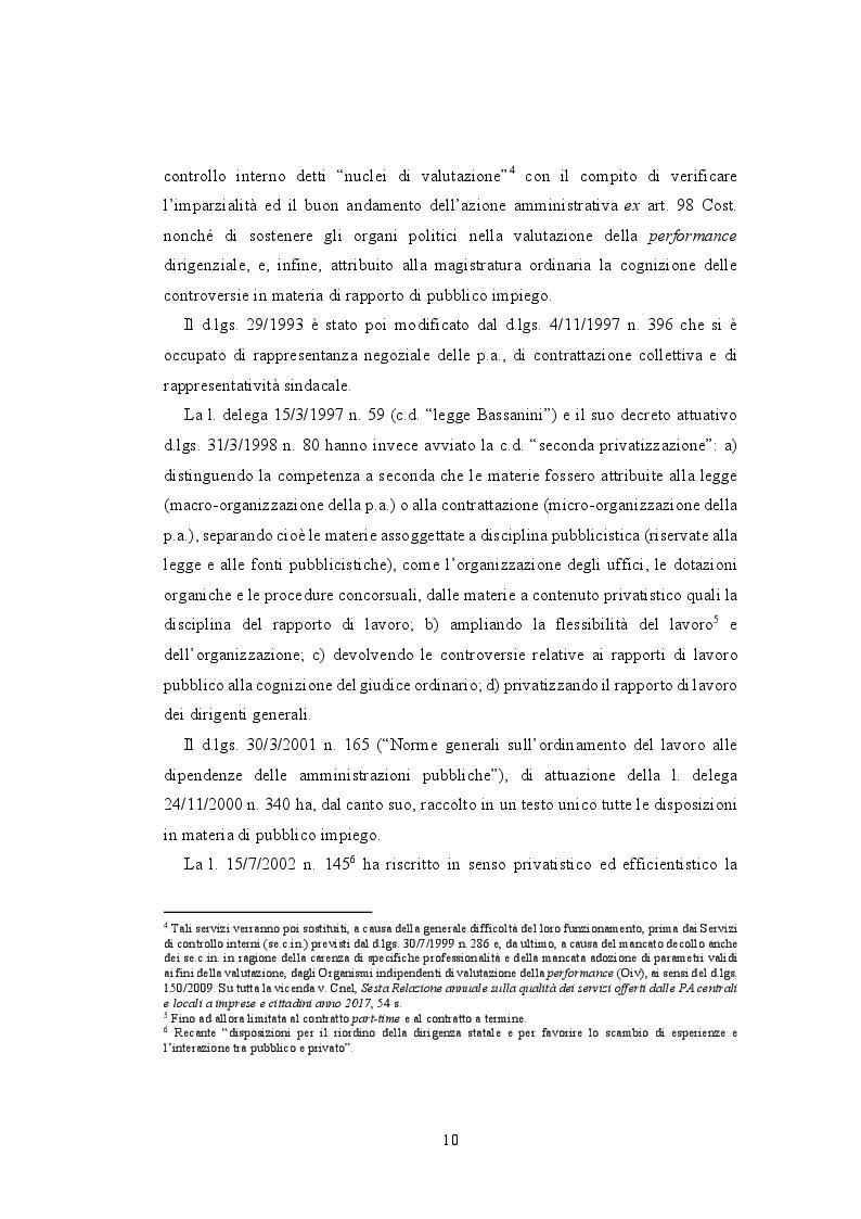 Anteprima della tesi: La valutazione della performance nella Pubblica Amministrazione a seguito della riforma Brunetta: il caso INAIL, Pagina 6