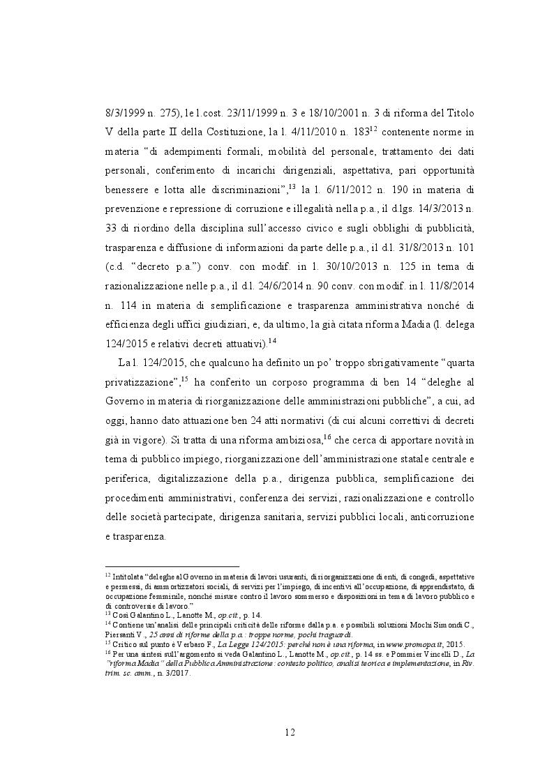 Anteprima della tesi: La valutazione della performance nella Pubblica Amministrazione a seguito della riforma Brunetta: il caso INAIL, Pagina 8