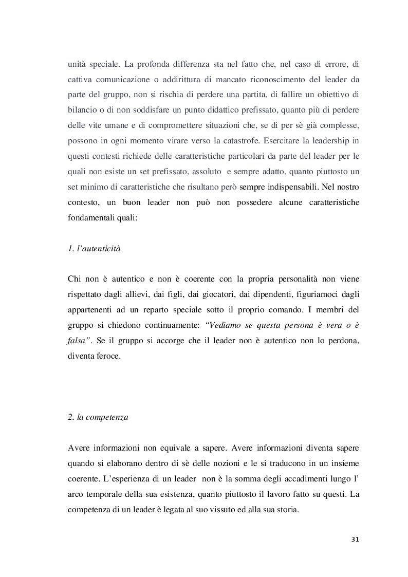 Anteprima della tesi: Analisi della leadership nei Reparti Speciali della Polizia di Stato, Pagina 4