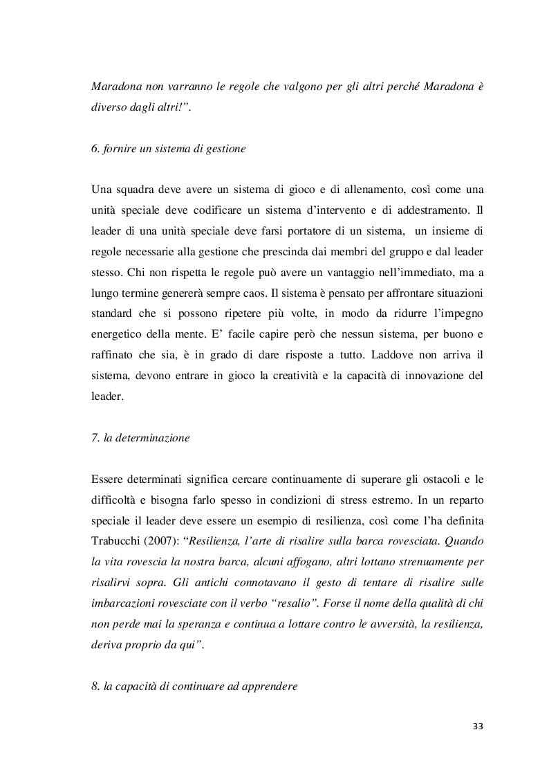 Anteprima della tesi: Analisi della leadership nei Reparti Speciali della Polizia di Stato, Pagina 6