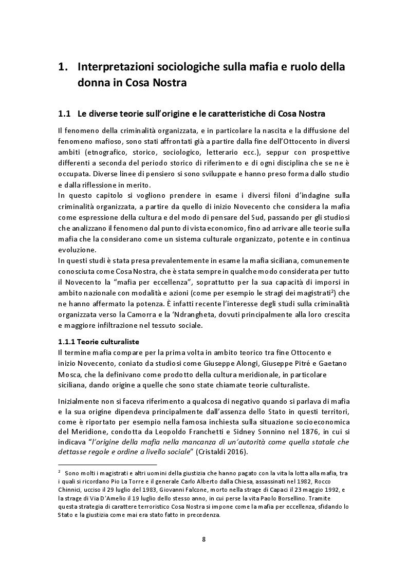 Anteprima della tesi: La rappresentazione del ruolo femminile nei film e fiction di mafia: tra emancipazione e sottomissione, Pagina 5