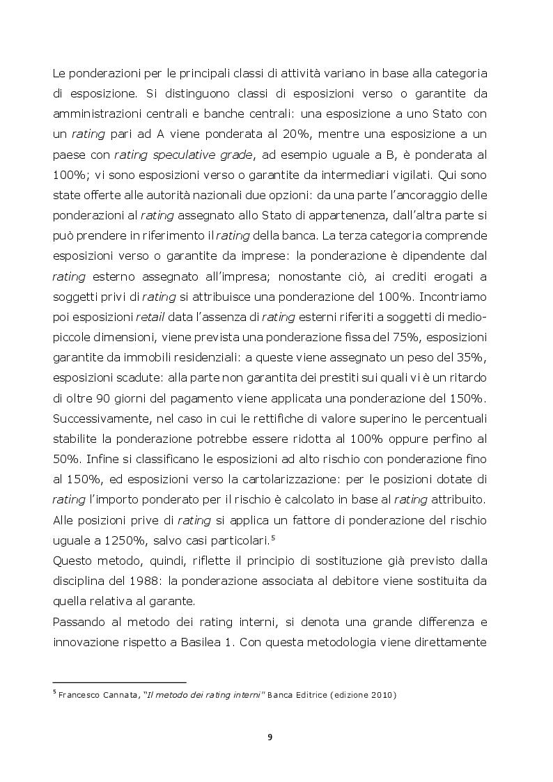 Estratto dalla tesi: Normative di Basilea: l'analisi e la misurazione del rischio di credito