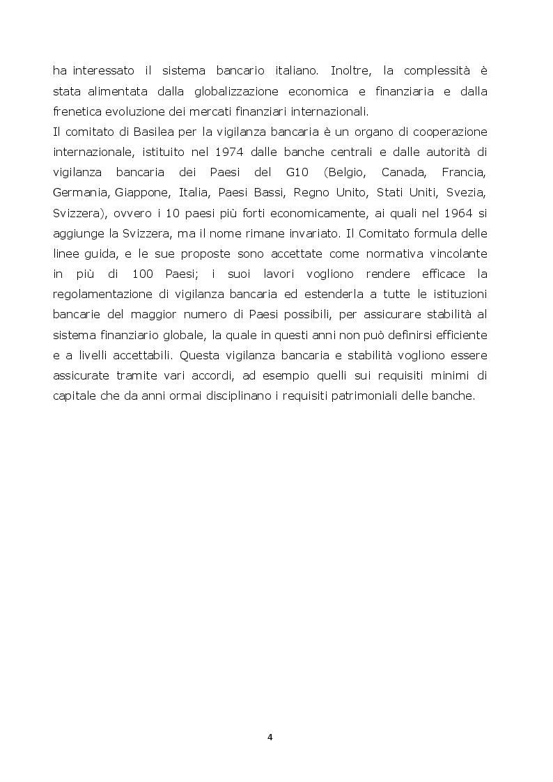 Anteprima della tesi: Normative di Basilea: l'analisi e la misurazione del rischio di credito, Pagina 3