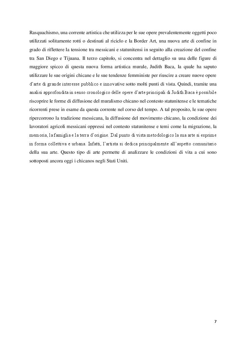 Anteprima della tesi: Judith Baca e il muralismo chicano negli Stati Uniti, Pagina 3