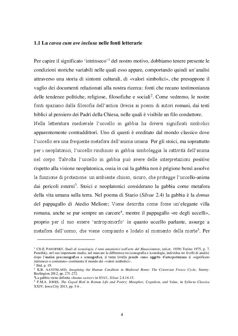 Anteprima della tesi: Il tema iconografico della ''Cavea cum ave inclusa'' a Roma e nel Lazio tra XII e XIII secolo, Pagina 4