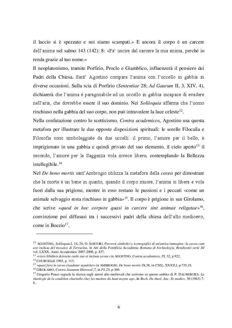 Anteprima della tesi: Il tema iconografico della ''Cavea cum ave inclusa'' a Roma e nel Lazio tra XII e XIII secolo, Pagina 6