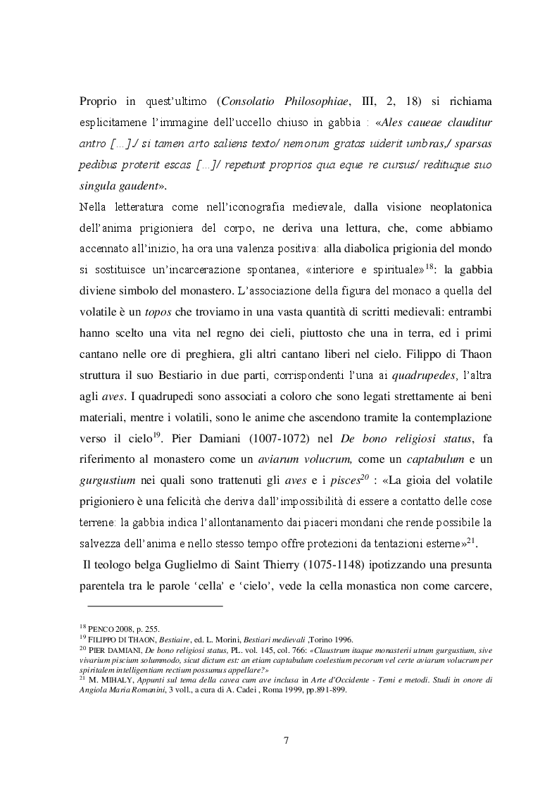 Anteprima della tesi: Il tema iconografico della ''Cavea cum ave inclusa'' a Roma e nel Lazio tra XII e XIII secolo, Pagina 7