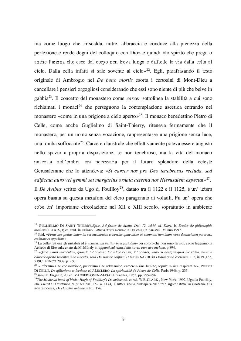 Anteprima della tesi: Il tema iconografico della ''Cavea cum ave inclusa'' a Roma e nel Lazio tra XII e XIII secolo, Pagina 8