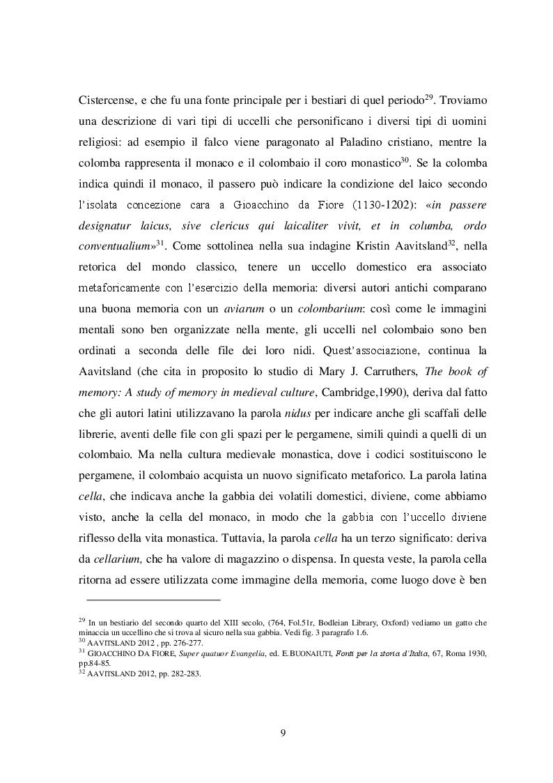 Anteprima della tesi: Il tema iconografico della ''Cavea cum ave inclusa'' a Roma e nel Lazio tra XII e XIII secolo, Pagina 9