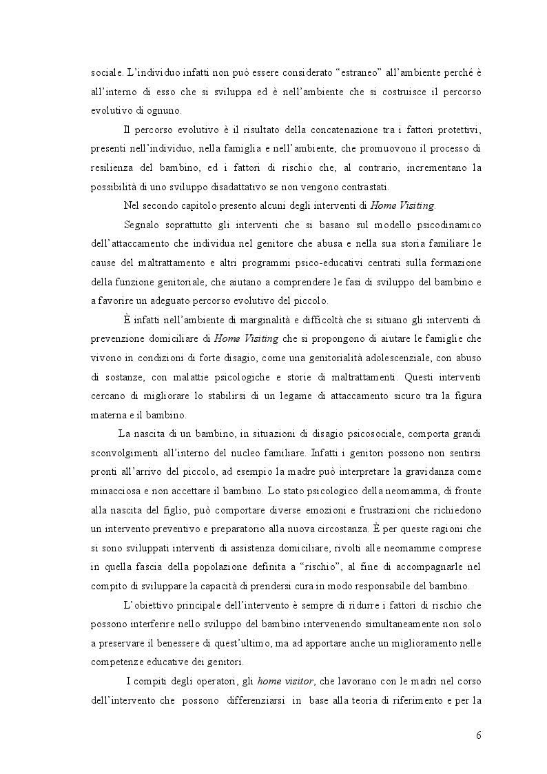 Anteprima della tesi: L'Home Visiting: fondamenti teorici e modelli di intervento, Pagina 3