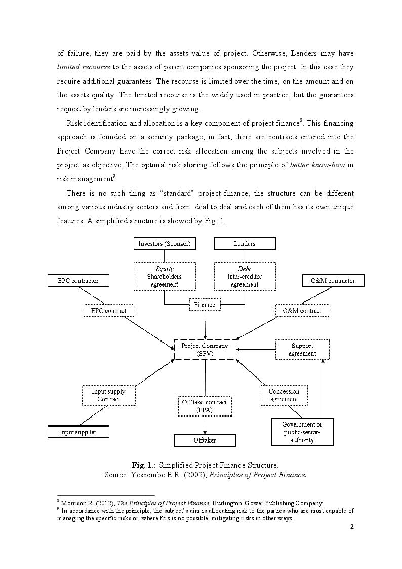Anteprima della tesi: Project Finance in Emerging Markets: a Case Study, Pagina 3