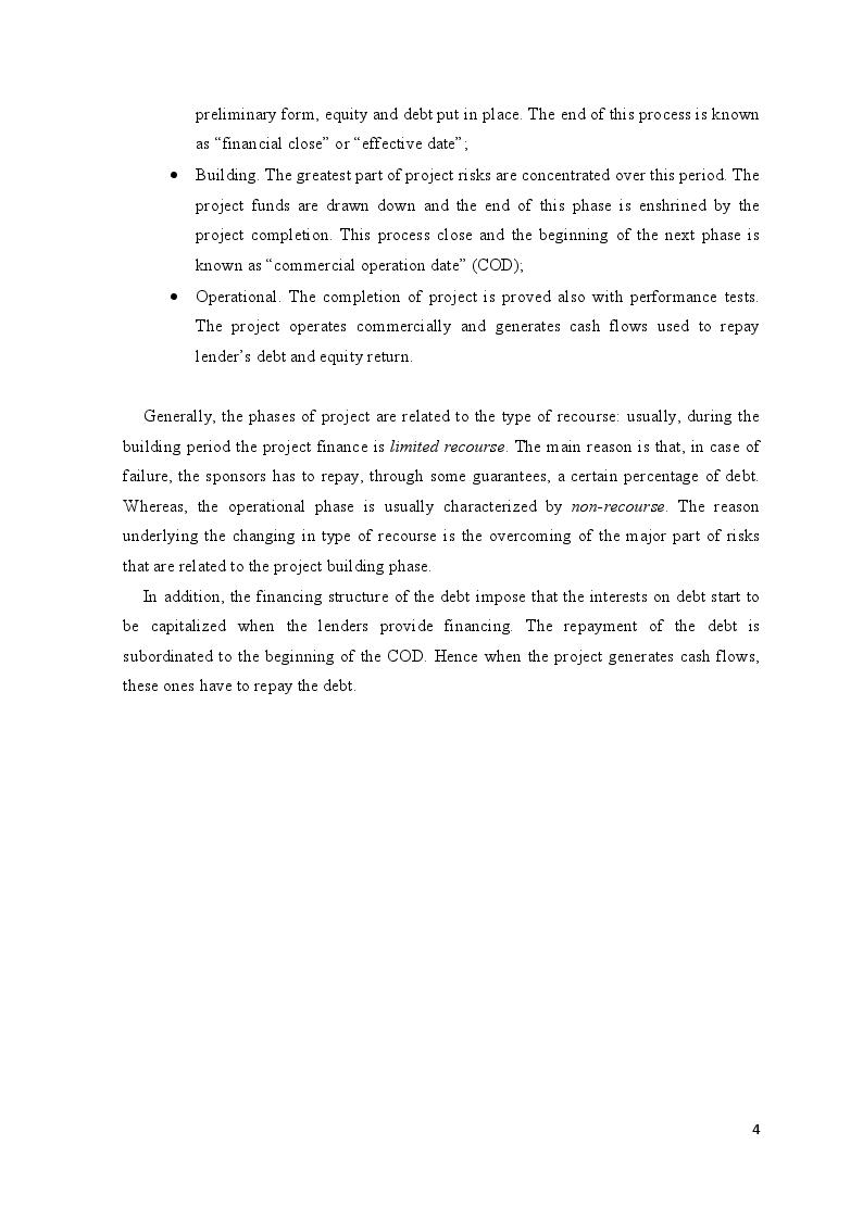 Anteprima della tesi: Project Finance in Emerging Markets: a Case Study, Pagina 5