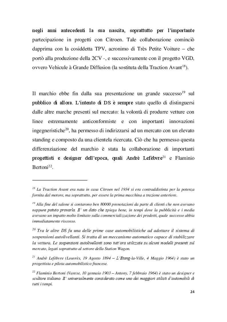 Estratto dalla tesi: PSA GROUPE, Innovazione e Tecnologia nel Settore Automobilistico