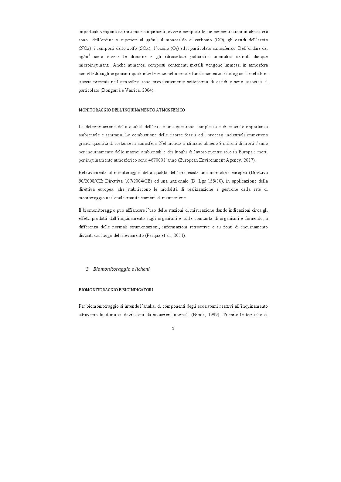 Anteprima della tesi: Analisi di campioni di licheni prelevati nel Parco Nazionale della Majella per la definizione di una baseline di elementi inorganici, Pagina 4