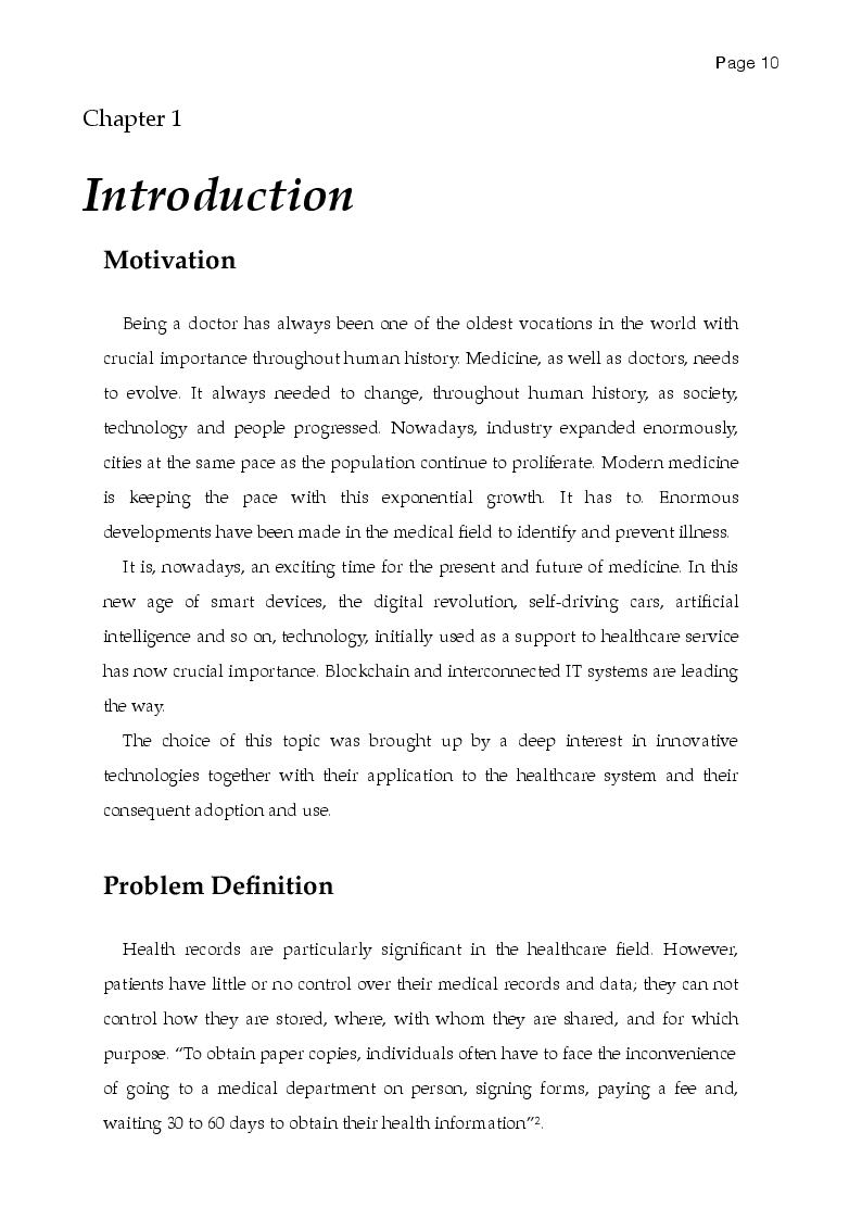 Anteprima della tesi: A multicriteria Evaluation of Blockchain Technologies applied to the Healthcare System, Pagina 2
