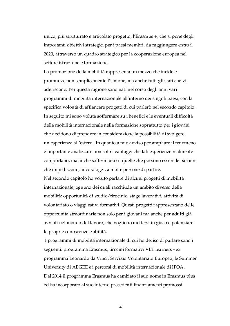 Anteprima della tesi: La mobilità Internazionale nella formazione: uno strumento di crescita, Pagina 3