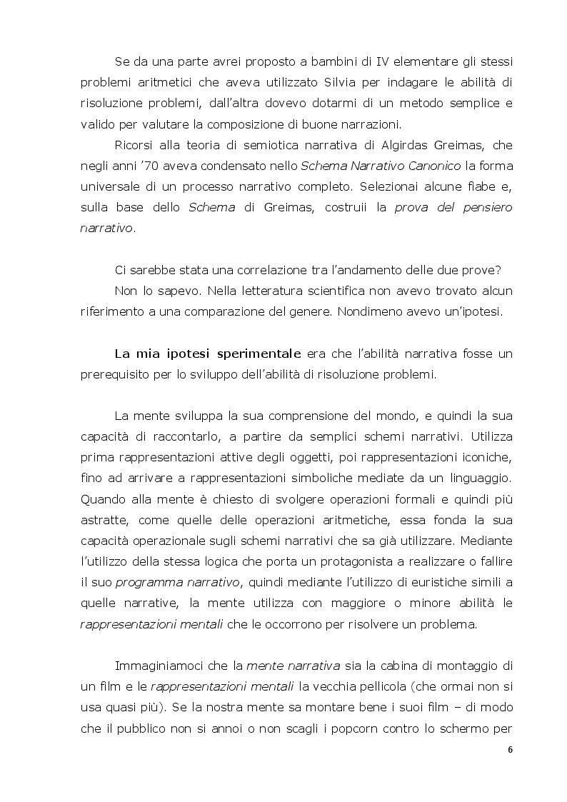 Anteprima della tesi: La mente narrativa risolve problemi?, Pagina 3