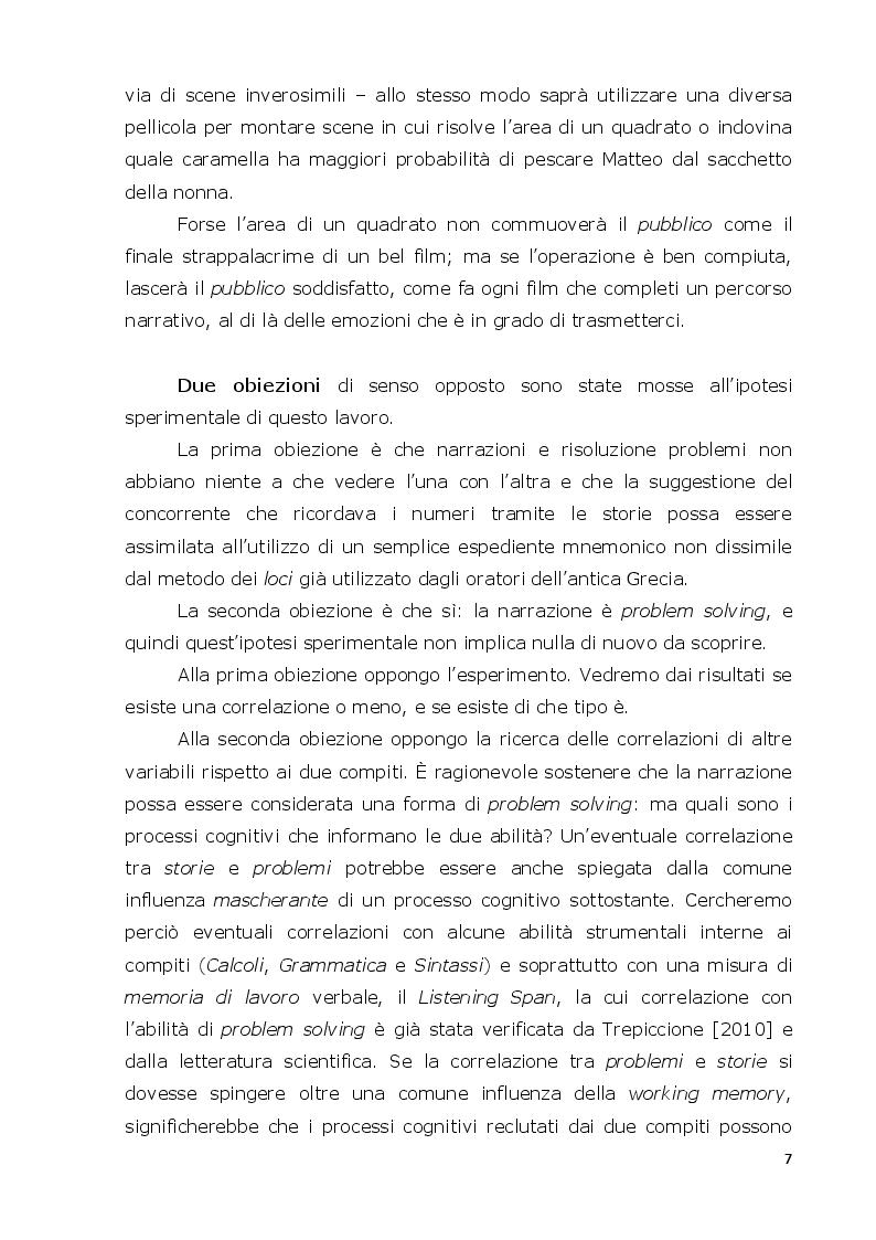 Anteprima della tesi: La mente narrativa risolve problemi?, Pagina 4
