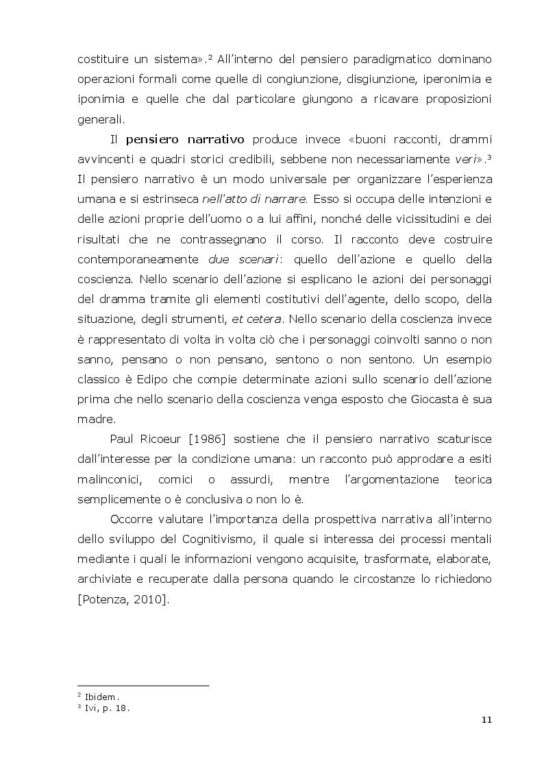 Anteprima della tesi: La mente narrativa risolve problemi?, Pagina 8