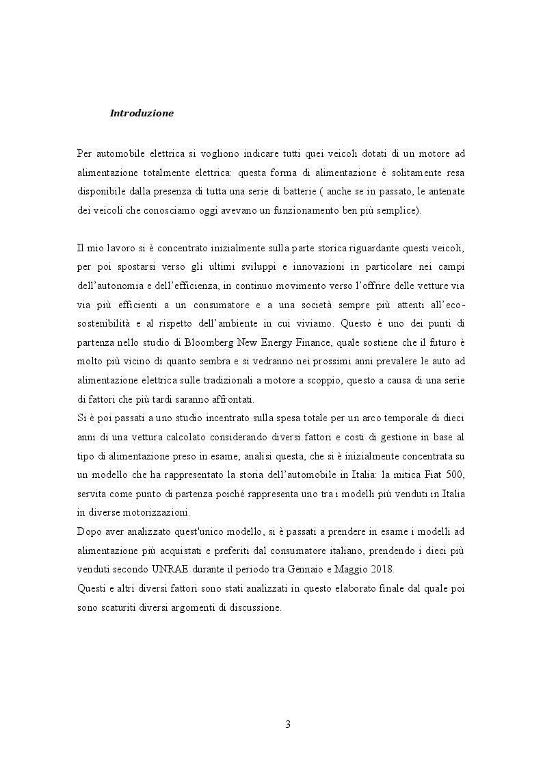 Anteprima della tesi: Il mercato delle auto elettriche: alcune correlazioni sull'andamento del mercato, Pagina 2