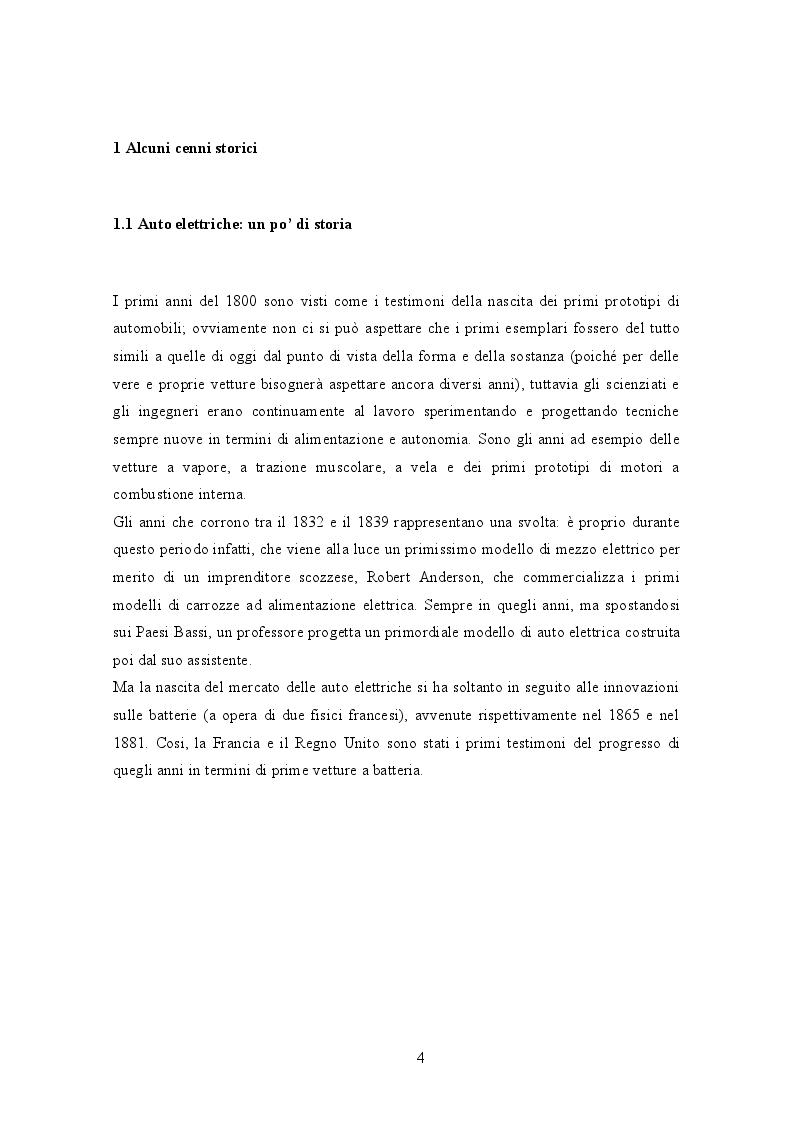 Anteprima della tesi: Il mercato delle auto elettriche: alcune correlazioni sull'andamento del mercato, Pagina 3