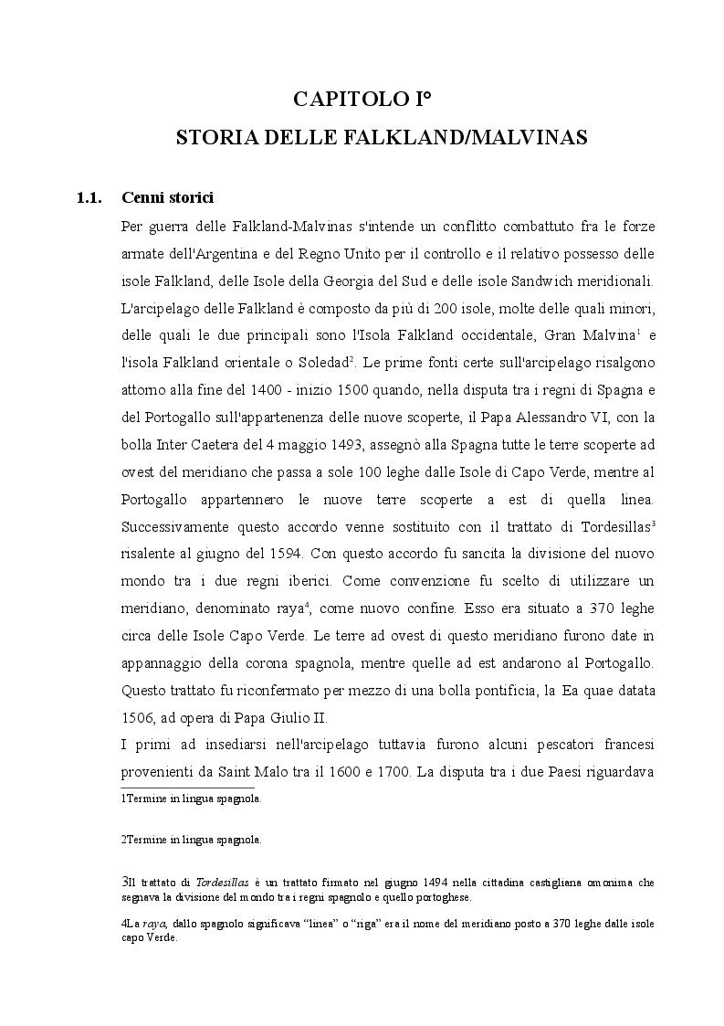 Anteprima della tesi: Il conflitto delle Falkland/Malvinas, Pagina 3