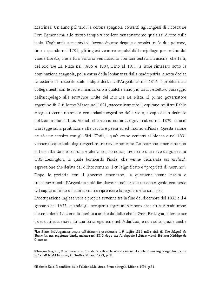 Anteprima della tesi: Il conflitto delle Falkland/Malvinas, Pagina 5