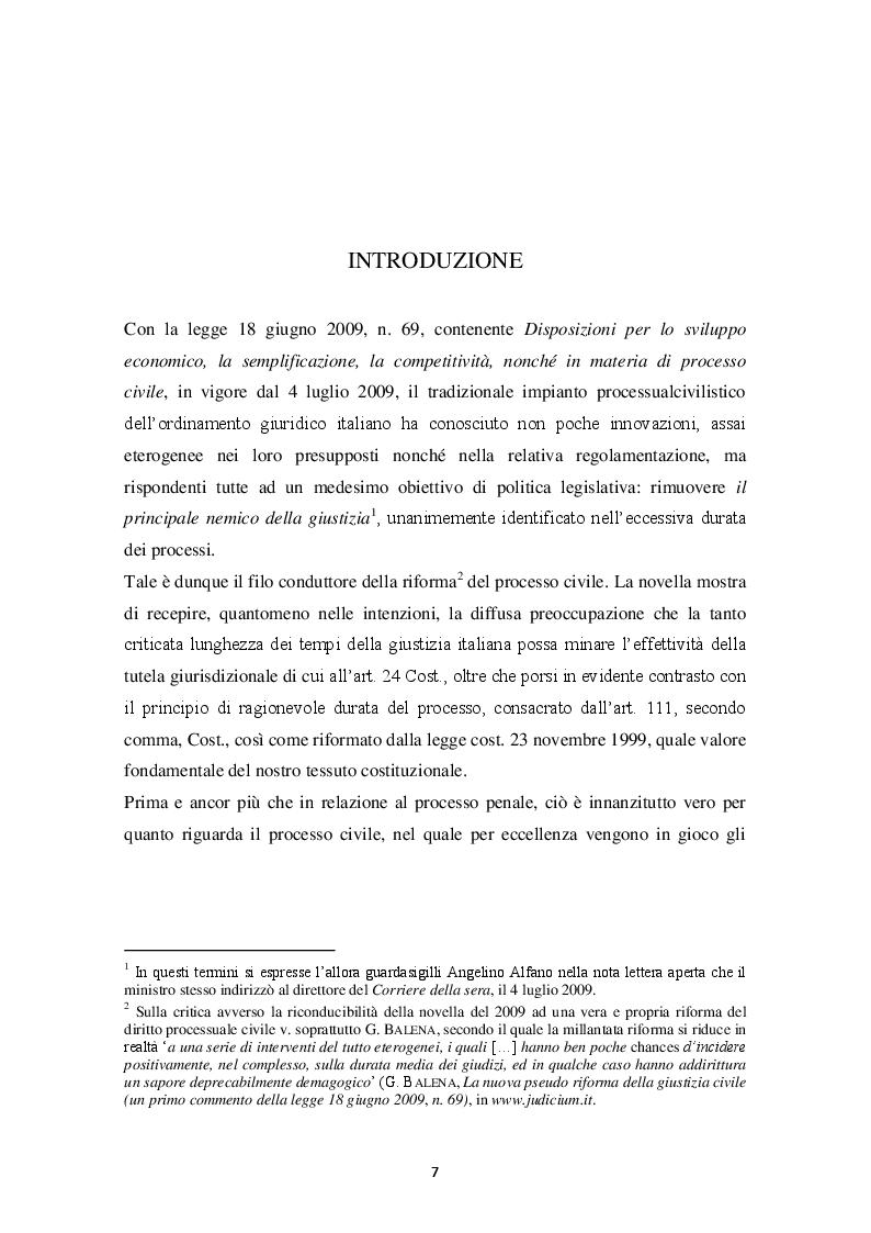 Anteprima della tesi: Il principio di non contestazione: genesi, disciplina e potenzialità semplificatorie nell'ottica del nuovo art. 115 c.p.c., Pagina 2