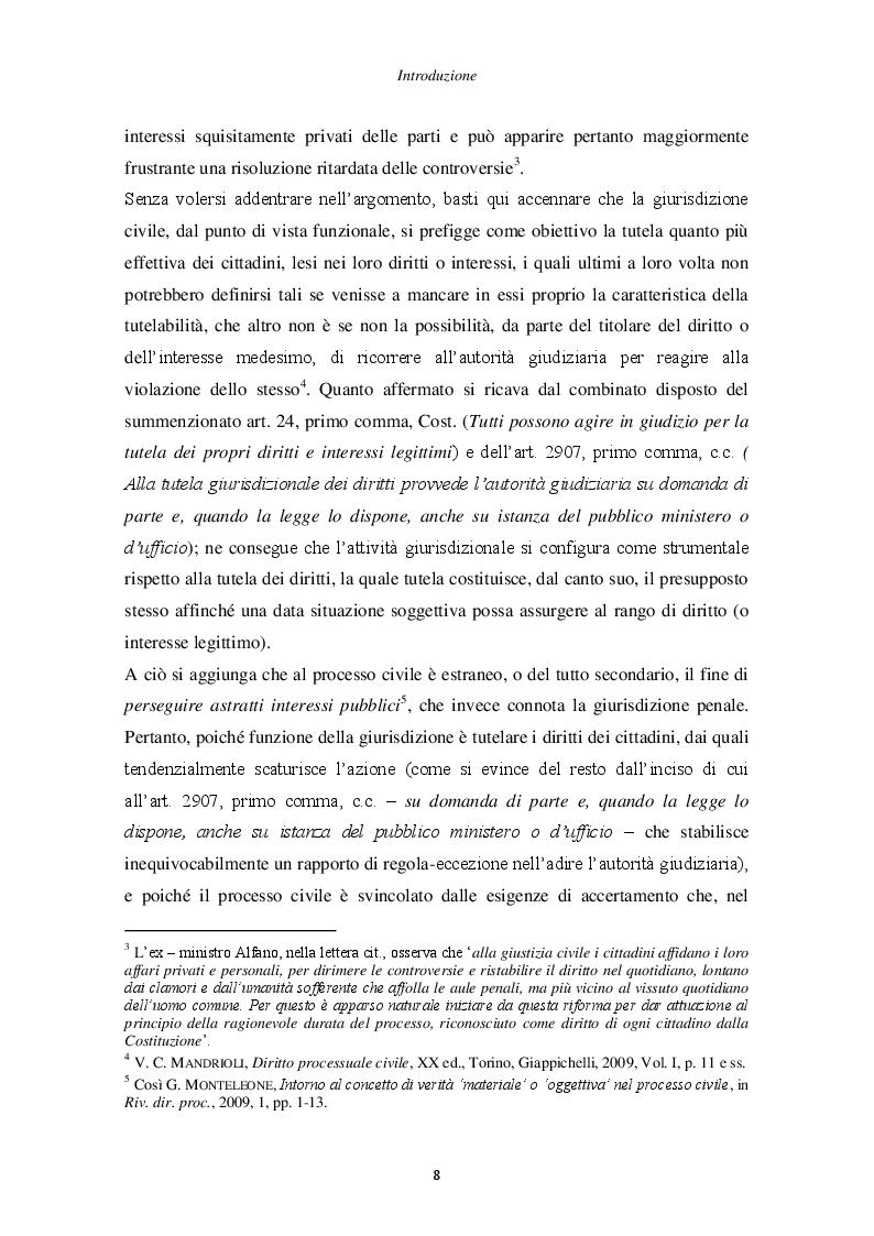 Anteprima della tesi: Il principio di non contestazione: genesi, disciplina e potenzialità semplificatorie nell'ottica del nuovo art. 115 c.p.c., Pagina 3