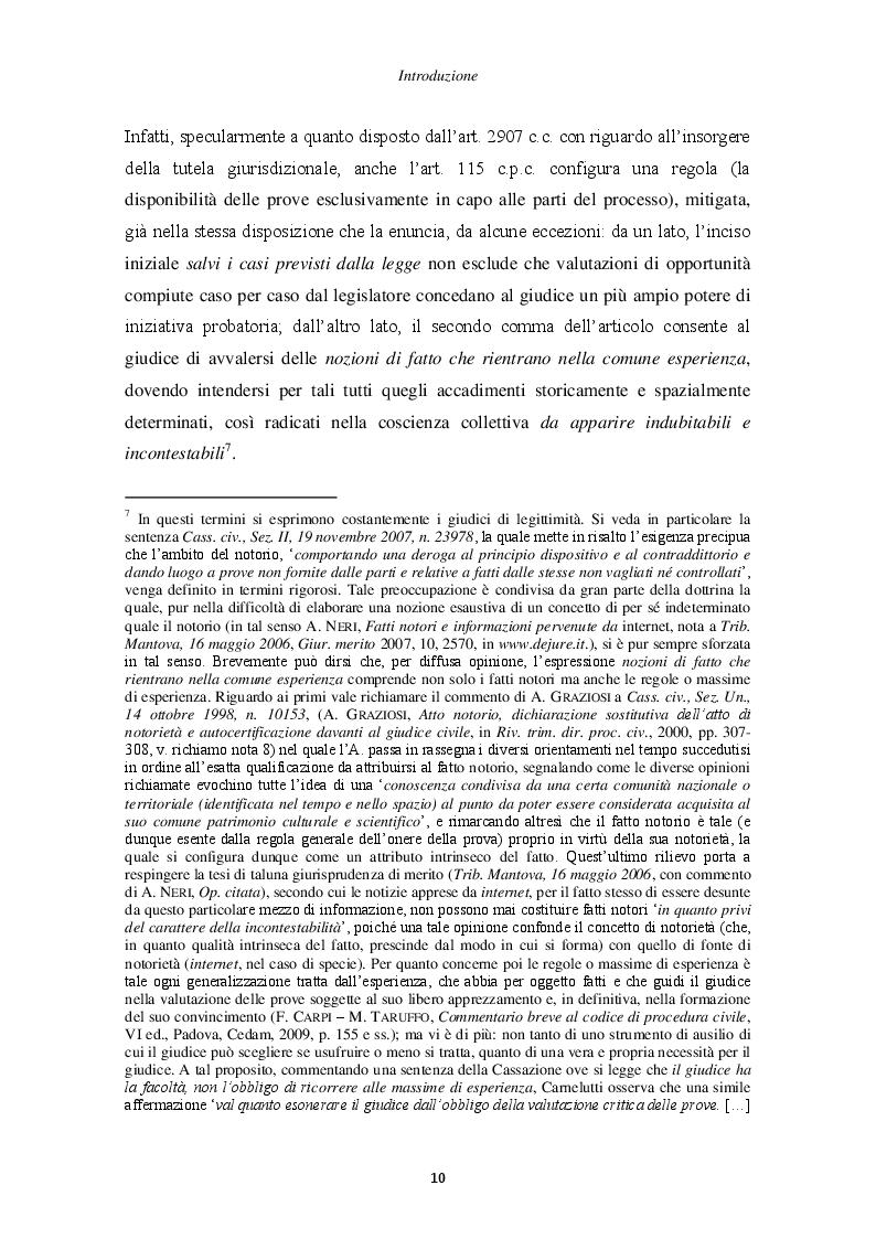 Anteprima della tesi: Il principio di non contestazione: genesi, disciplina e potenzialità semplificatorie nell'ottica del nuovo art. 115 c.p.c., Pagina 5