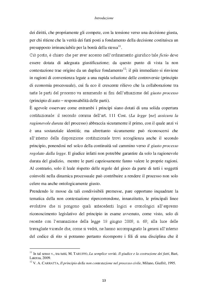 Anteprima della tesi: Il principio di non contestazione: genesi, disciplina e potenzialità semplificatorie nell'ottica del nuovo art. 115 c.p.c., Pagina 8