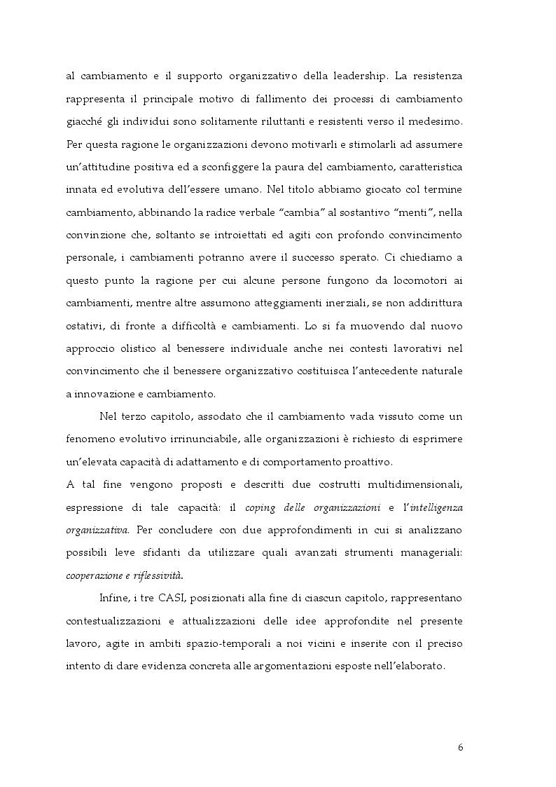 Anteprima della tesi: Cambiamento e ''cambia-menti'' nella Pubblica Amministrazione, Pagina 3
