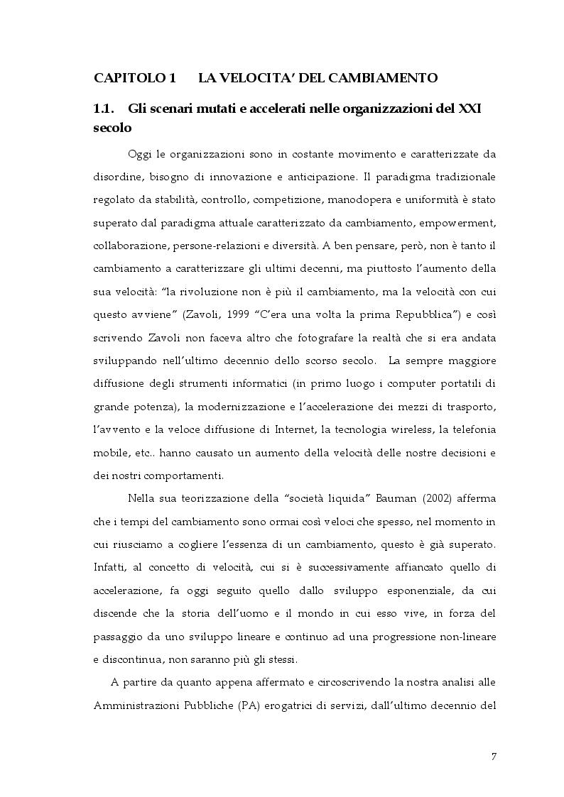 Anteprima della tesi: Cambiamento e ''cambia-menti'' nella Pubblica Amministrazione, Pagina 4