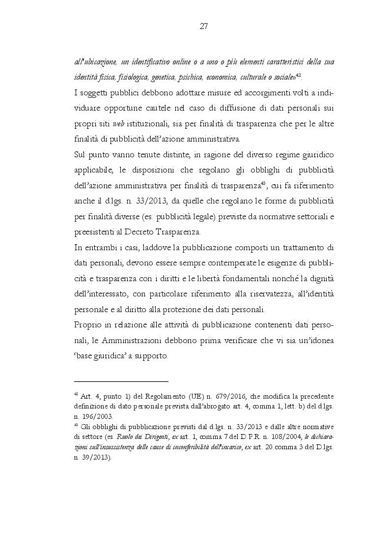 Anteprima della tesi: Il rapporto tra gli obblighi di pubblicazione e la tutela dei dati personali, Pagina 3