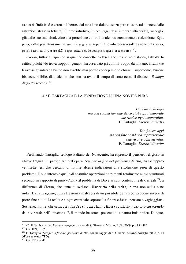 Anteprima della tesi: La realtà come errore nella speculazione tragica di Emil Cioran, Pagina 3