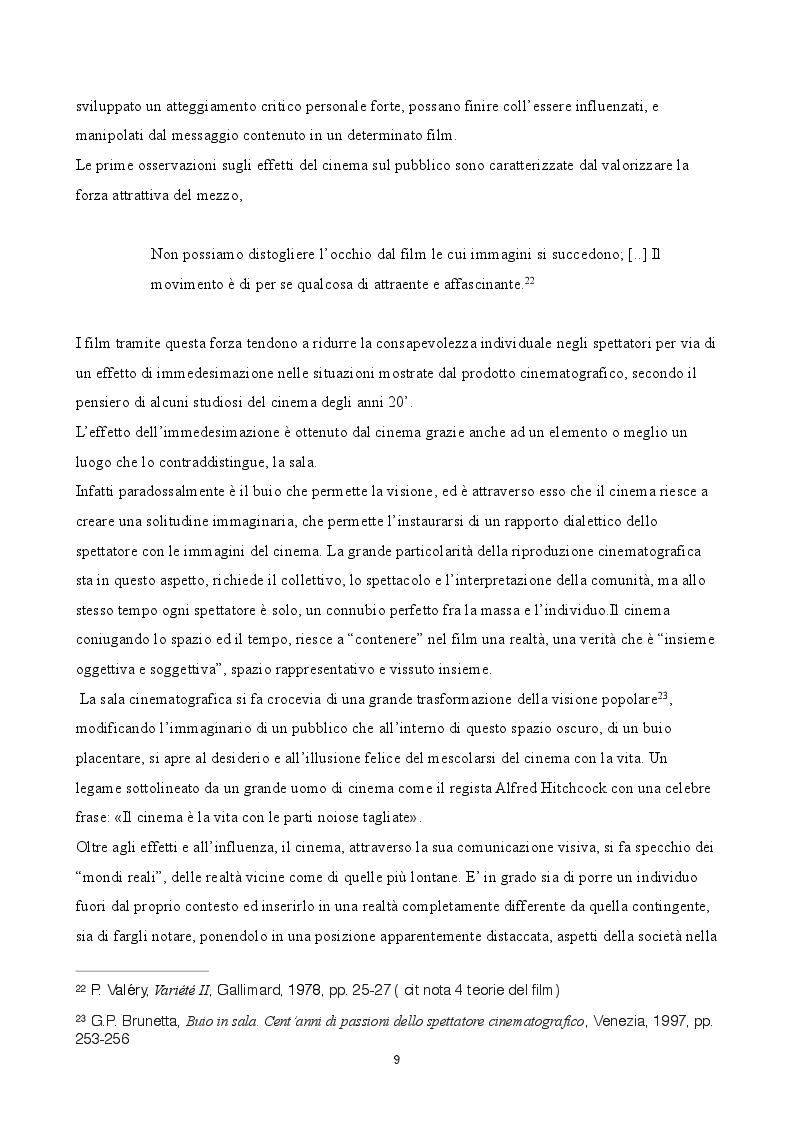 Estratto dalla tesi: Evoluzione del gusto e differenziazione dei mezzi di fruizione nel mercato audiovisivo in Italia dal 2008 al 2014