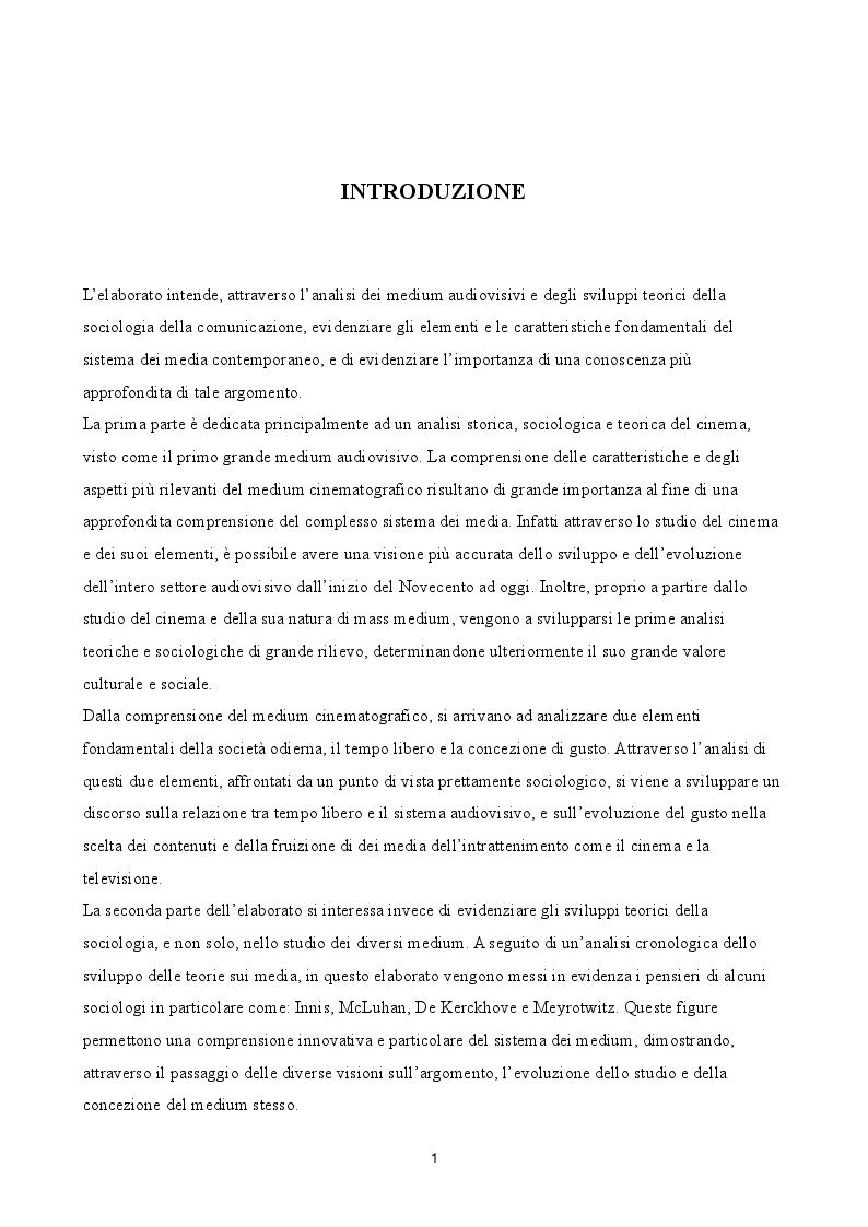 Anteprima della tesi: Evoluzione del gusto e differenziazione dei mezzi di fruizione nel mercato audiovisivo in Italia dal 2008 al 2014, Pagina 2