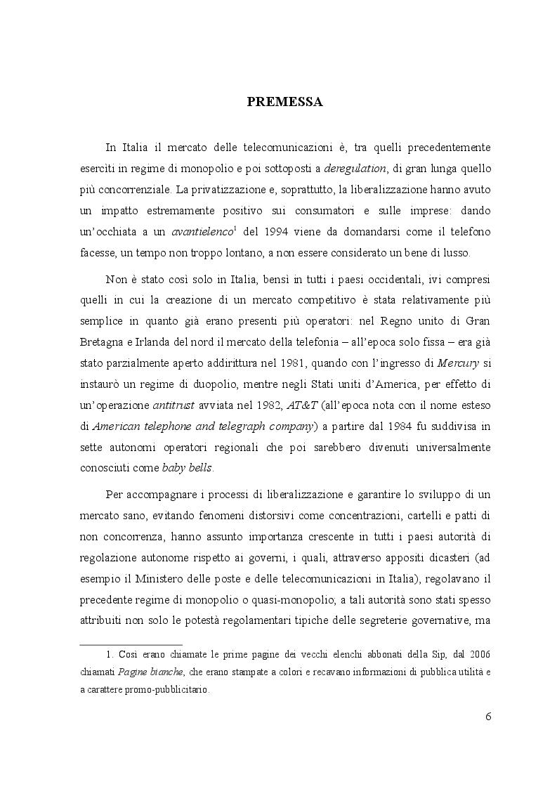 Anteprima della tesi: Le controversie tra utenti e operatori di comunicazioni elettroniche: il ruolo dell'Autorità per le garanzie nelle comunicazioni e dei comitati regionali per le comunicazioni, Pagina 2