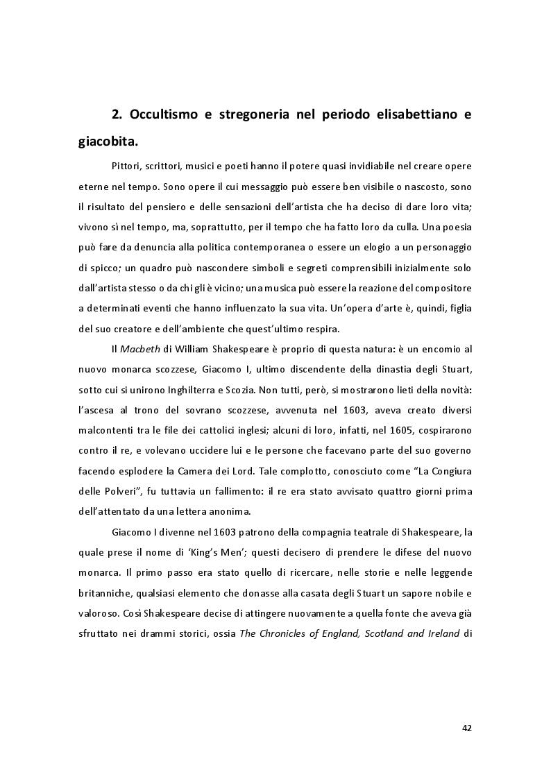 Anteprima della tesi: Storia e Mitologia della Stregoneria tra le pagine del Macbeth, Pagina 2