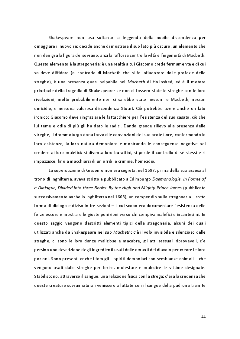 Anteprima della tesi: Storia e Mitologia della Stregoneria tra le pagine del Macbeth, Pagina 4