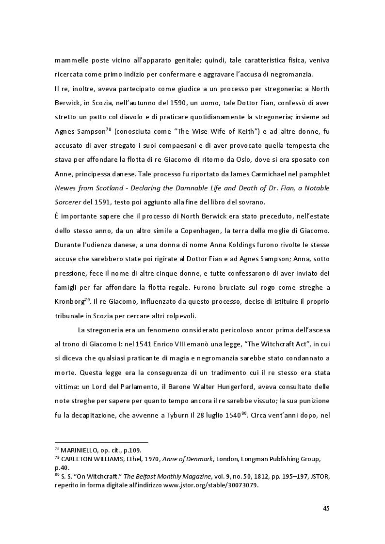 Anteprima della tesi: Storia e Mitologia della Stregoneria tra le pagine del Macbeth, Pagina 5
