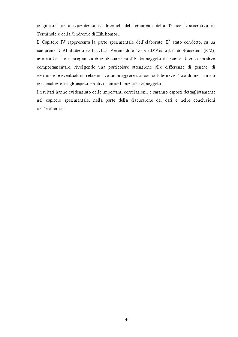 Anteprima della tesi: Indagine sui fenomeni dissociativi in adolescenza, Pagina 3