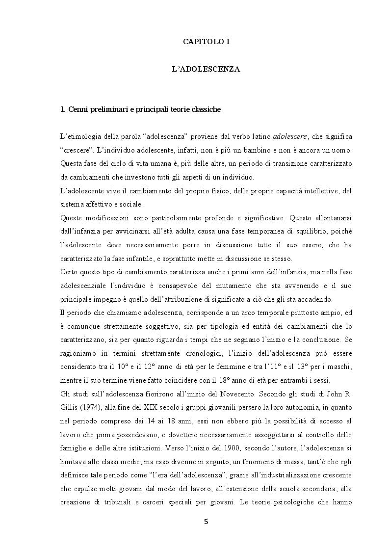 Anteprima della tesi: Indagine sui fenomeni dissociativi in adolescenza, Pagina 4
