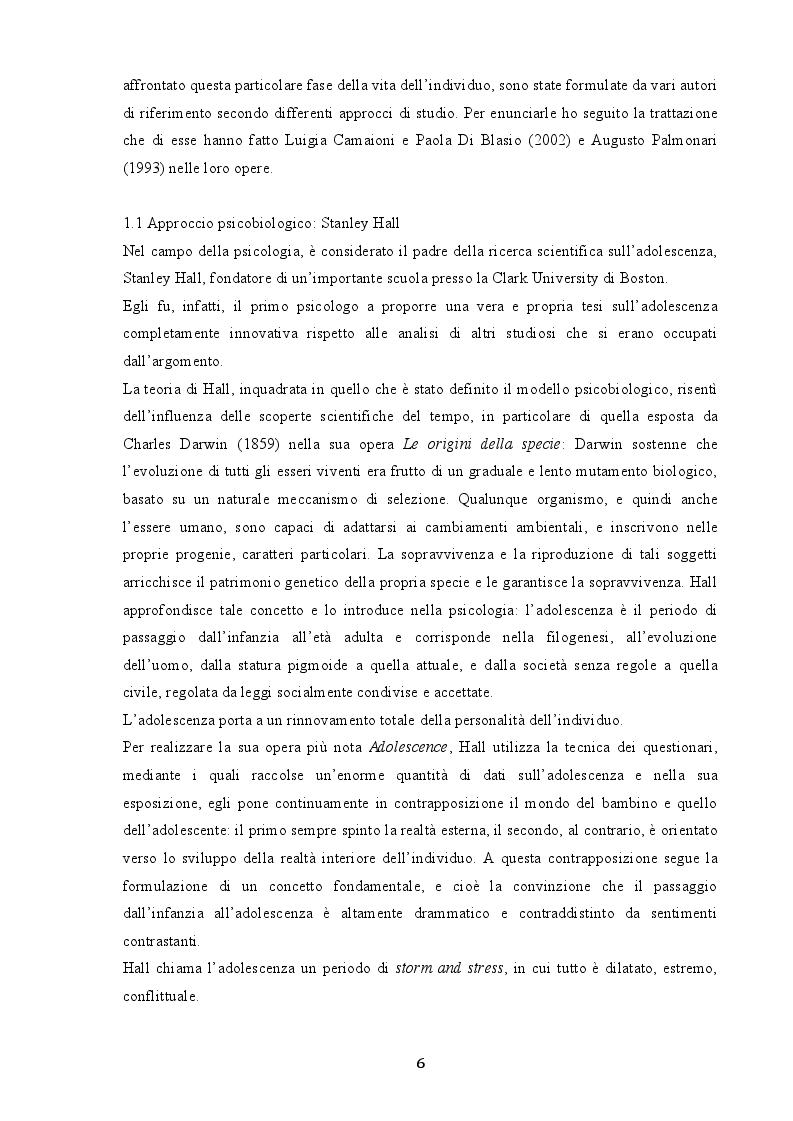 Anteprima della tesi: Indagine sui fenomeni dissociativi in adolescenza, Pagina 5