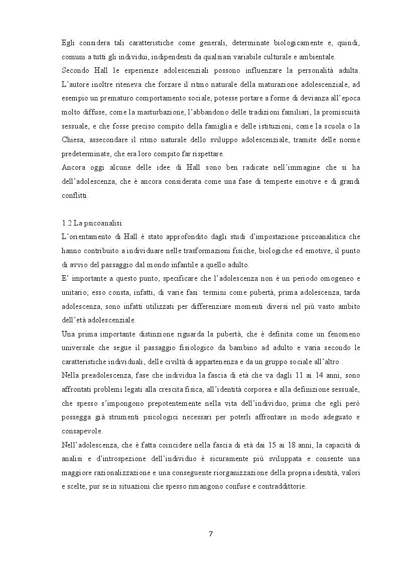 Anteprima della tesi: Indagine sui fenomeni dissociativi in adolescenza, Pagina 6